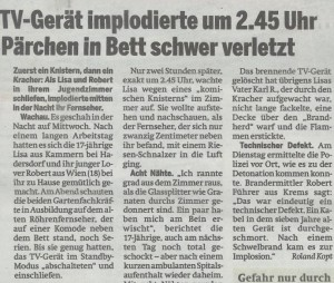 Implosion TV, Österreich, 20.5.2010